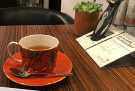お茶とカウンセリングの写真